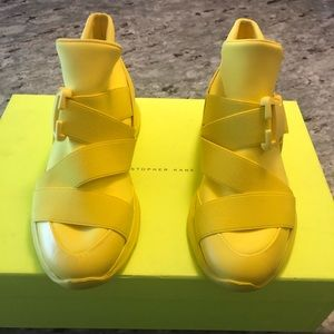 Christopher Kane Womens Yellow Sneakers Shoes 37
